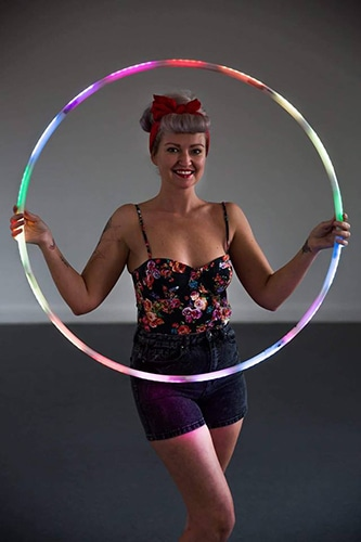 LED Hula Hoop Performer Ronni
