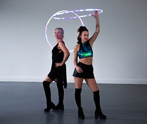 Led Hula Hoop Entertainment Performance