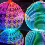 LED Hula hoops at Glow-vember
