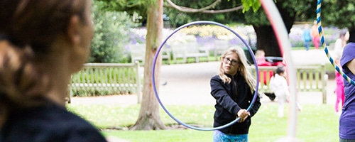 Kids hula hoop size