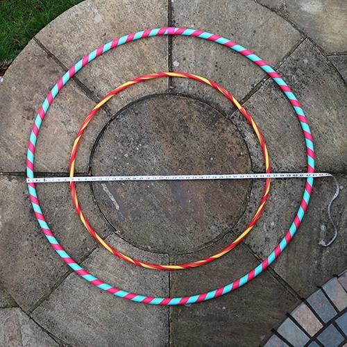 Measuring hula hoops