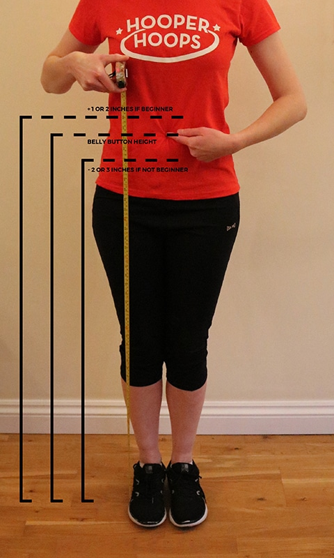 Measuring your first hula hoop